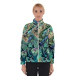 Fractal Batik Art Teal Turquoise Salmon Winterwear
