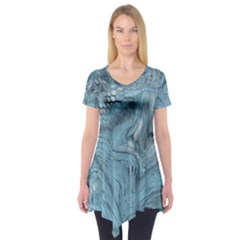 FROST DRAGON Short Sleeve Tunic  by LetsDanceHaveFun