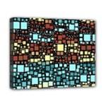 Block On Block, Aqua Canvas 10  x 8