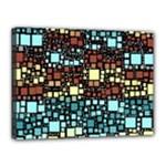 Block On Block, Aqua Canvas 16  x 12
