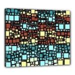 Block On Block, Aqua Canvas 24  x 20