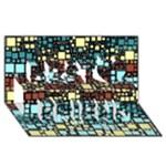 Block On Block, Aqua Best Friends 3D Greeting Card (8x4)