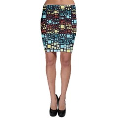 Block On Block, Aqua Bodycon Skirt by MoreColorsinLife