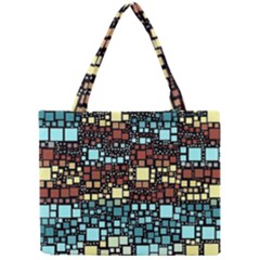 Block On Block, Aqua Mini Tote Bag by MoreColorsinLife