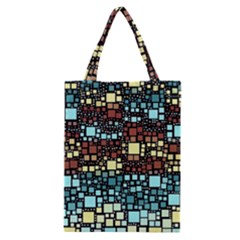 Block On Block, Aqua Classic Tote Bag by MoreColorsinLife