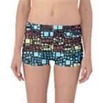 Block On Block, Aqua Boyleg Bikini Bottoms