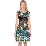 Block On Block, Aqua Capsleeve Midi Dress