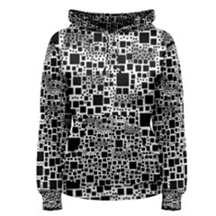 Block On Block, B&w Women s Pullover Hoodie by MoreColorsinLife