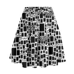 Block On Block, B&w High Waist Skirt by MoreColorsinLife