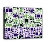 Block On Block, Purple Canvas 14  x 11