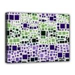 Block On Block, Purple Canvas 16  x 12