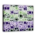Block On Block, Purple Deluxe Canvas 24  x 20