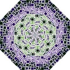 Block On Block, Purple Hook Handle Umbrellas (large) by MoreColorsinLife