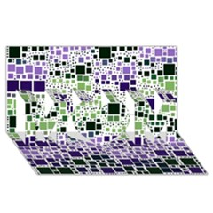 Block On Block, Purple Mom 3d Greeting Card (8x4) by MoreColorsinLife