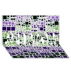 Block On Block, Purple #1 Mom 3d Greeting Cards (8x4) by MoreColorsinLife