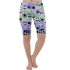 Block On Block, Purple Cropped Leggings  by MoreColorsinLife