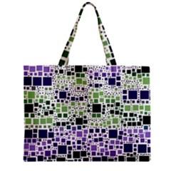 Block On Block, Purple Zipper Mini Tote Bag by MoreColorsinLife