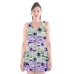 Block On Block, Purple Scoop Neck Skater Dress
