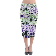 Block On Block, Purple Midi Pencil Skirt by MoreColorsinLife