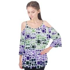 Block On Block, Purple Flutter Tees by MoreColorsinLife