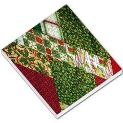 Christmas Quilt Background Small Memo Pads by Zeze