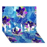 Purple Flowers HOPE 3D Greeting Card (7x5)