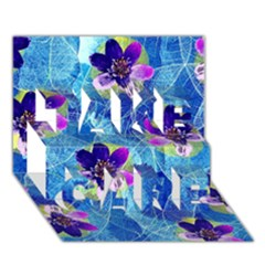 Purple Flowers Take Care 3d Greeting Card (7x5) by DanaeStudio