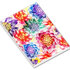 Colorful Succulents Large Memo Pads by DanaeStudio