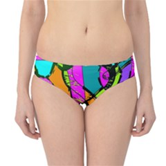 Abstract Sketch Art Squiggly Loops Multicolored Hipster Bikini Bottoms by EDDArt