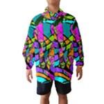 Abstract Sketch Art Squiggly Loops Multicolored Wind Breaker (Kids)
