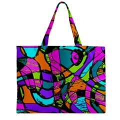 Abstract Sketch Art Squiggly Loops Multicolored Medium Tote Bag by EDDArt