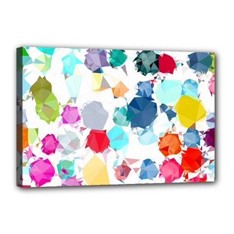 Colorful Diamonds Dream Canvas 18  X 12  by DanaeStudio