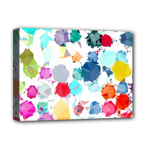 Colorful Diamonds Dream Deluxe Canvas 16  X 12   by DanaeStudio