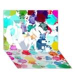 Colorful Diamonds Dream LOVE 3D Greeting Card (7x5)