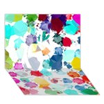 Colorful Diamonds Dream Apple 3D Greeting Card (7x5)