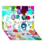 Colorful Diamonds Dream HOPE 3D Greeting Card (7x5)