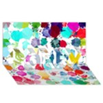 Colorful Diamonds Dream SORRY 3D Greeting Card (8x4)