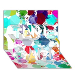 Colorful Diamonds Dream Take Care 3d Greeting Card (7x5) by DanaeStudio