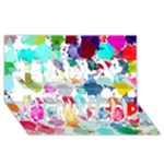 Colorful Diamonds Dream Happy New Year 3D Greeting Card (8x4)