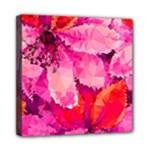 Geometric Magenta Garden Mini Canvas 8  x 8