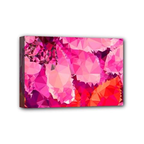 Geometric Magenta Garden Mini Canvas 6  X 4  by DanaeStudio