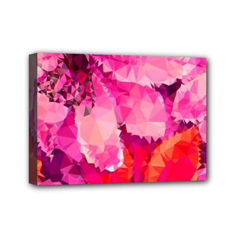 Geometric Magenta Garden Mini Canvas 7  X 5  by DanaeStudio