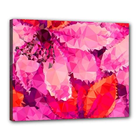 Geometric Magenta Garden Canvas 20  X 16  by DanaeStudio