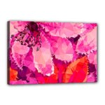 Geometric Magenta Garden Canvas 18  x 12