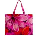Geometric Magenta Garden Zipper Mini Tote Bag