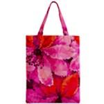 Geometric Magenta Garden Zipper Classic Tote Bag