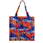 Little Flying Pigs Zipper Grocery Tote Bag