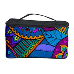 Pop Art Paisley Flowers Ornaments Multicolored Cosmetic Storage Case by EDDArt
