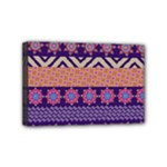 Colorful Winter Pattern Mini Canvas 6  x 4