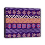Colorful Winter Pattern Canvas 10  x 8
